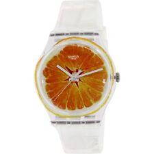 Swatch Women's Originals SUOK115 Orange Silicone Swiss Quartz Fashion Watch