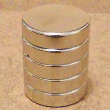 5 N52 Neodymium Cylindrical (5/8 x 1/4) inch Cylinder/Disc Magnets.
