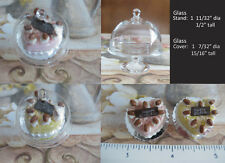 Miniature Cake & 35 mm Glass Cake Stand with Cover - 2 sets