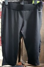 Reebok Womens Breathable Running Gym Cropped 3/4 Leggings Tight Long Shorts New