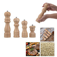 Home Kitchen Classical Wooden Pepper Spice Salt Mill Grinder Muller Tool New