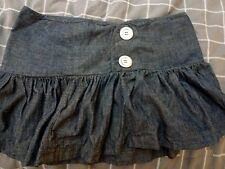 GIRL XPRESS DENIM LOOK SKIRT FRILL HEM SIZE 10