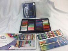 Large Artist Pastels Lot Oil Soft Used Pentel Alphacolor Quartet Incomplete