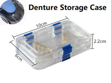 Hinged Display Box Acrylic Clear Membrane Boxes Storage Jewelry False Teeth Case