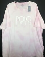 Polo Ralph Lauren Men's Tie Dye POLO 1992 Classic Fit T-Shirt Pink Short Sleeve