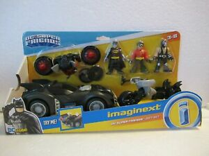 Imaginext Batmobile DC Super Friends Gift Set - Batman Robin  Bane Fisher Price