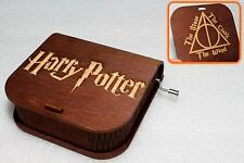 Deathly Hallows - Harry Potter Music Box - Hand Crank Engraved Wooden Box