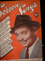 Screen Songs Magazine Clark Gable Alan Ladd Perry Como  May 1946 #5