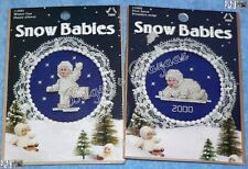 Lot of 2 SNOW BABIES Ornaments Counted Cross Stitch Christmas Kits