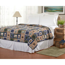 LAKE HOUSE FISH BEAR DOG DUCK OARS CANOE QUILT BEDROOM BEDDING KING SIZE