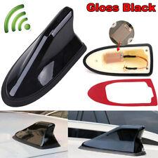 Gloss Black Upgraded Signal Shark Fin Antenna Car Roof FM/AM Auto Radio Aerial