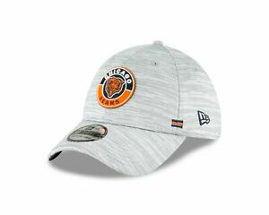 CHICAGO BEARS NFL OFFICIAL SIDELINE NEW ERA 39THIRTY FLEX GRAY HAT/CAP NWT