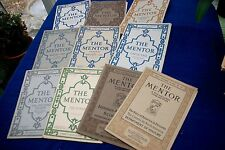 THE MENTOR lot of 12 mail-order periodicals varied subjects w/ prints 1913-20