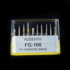 Dental Diamond Burs Ceramics/Composite Polishing Kit FG-105 10Pcs/Kit AZDENT