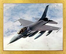 Military F-16 Falcon Jet Airplane Aviation Picture Golden Framed Art Print 18x22
