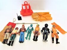 Vintage Fisher Price Adventure People Action Figures Sea Sled Accessories Mixed