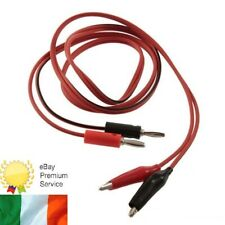 Banana Plug to Aligator Clip Multimeter Test Probe Voltmeter 1m Cable