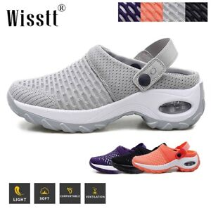 Womens Ladies Mesh Breathable Air Slip On Sandals Sneakers Sports Running Shoes