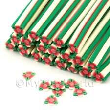 3x Hecho a Mano Flor Y Hojas Nail Art canes (enc08)