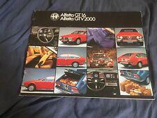 1970s Alfa Romeo Alfetta Gt 1.6 GTV2000 Coupe Color Brochure catalog Prospekt
