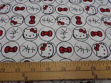 1 yard Hello Kitty Dots Fabric