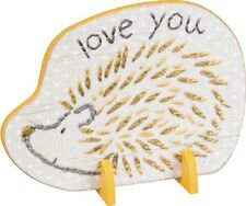 Porcupine Loves You Stand Up Wood Sign~Plaque/Basket/Baby Room Decor/Yellow