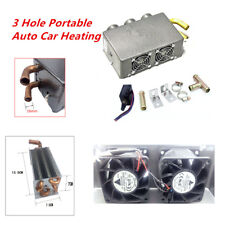 3 Hole Portable Auto Truck Car Cooling Heater Defroster Demister Universal 80W