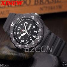 Men Date & Day Army Sport Watch Digital Black Dial Quartz Wrist Watch Waterproof