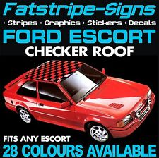 FORD ESCORT GRAPHICS CHECKER ROOF CAR GRAPHICS STRIPES DECALS STICKERS RS TURBO