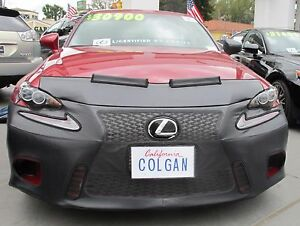 Colgan Front End Mask Bra 2pc.Fits Lexus IS250 & IS350 F-Sport 2014-2016 W/O Lic