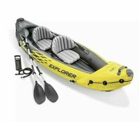Intex Explorer K2 Kayak 2-Person Inflatable Set with Oars and Air Pump - New