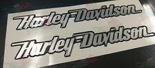 Coppia Adesivi Resinati Stickers 3D SCRITTA HARLEY DAVIDSON rilievo DA SERBATOIO