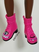 PINK MONSTER BOOTS SHOES ~ MC2 PROJECT DC MONSTER HIGH AFTER HIGH CREATABLE