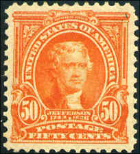 1903 US Stamp #310 A125 50c Mint Original Gum Catalogue Value $565