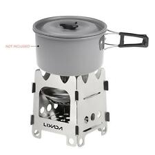 Outdoor Camping Stove Ultralight Folding Stainless Steel Wood Burning Stove K2U7