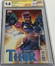 Marvel Mighty Thor #21 Trading Card Variant Signed Stan Lee & Jim Lee CGC 9.8 SS