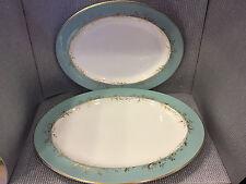 """Vintage Set of 2 Royal Doulton Melrose Pattern Oval Serving Platters 16"""" & 13"""""""