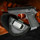 Soft Ecological Leather Concealed Waist Carry Holster  Small 380 Pistols Gun Bag