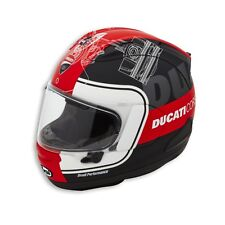 Genuine 2019 Arai Ducati Corse V3 RX-7V Motorcycle Helmet, 981047003, Size Small