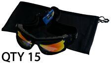 "Qty 15 Ski Winter Recreation Snowboarding Pouches Soft Pouch Black Bag 6""x10"""