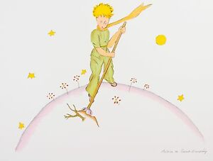 Saint-Exupéry - The Little Prince On His Planet (signed lithograph)