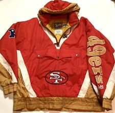 Lee Sport San Francisco 49ers Puffer Jacket Embroidered Patches Large L Stain