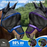 Harrison Howard Maskology Supreme horse fly mask 90% UV Shield Cooling Free P&P