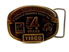 Vintage Tisco 54 Years All Makes Parts Belt Buckle