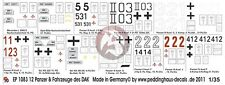 Peddinghaus 1/35 DAK Afrika Korps Tank & Vehicle Markings #1 (12 vehicles) 1083