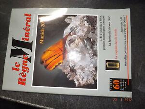 fff42§§ Revue Le Regne Mineral n°60 Fluorite Maraval / Scapolite / Andrada e ...