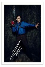 BRUCE CAMPBELL ASH VS EVIL DEAD AUTOGRAPH SIGNED PHOTO PRINT POSTER