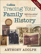 """""""VERY GOOD"""" Collins Tracing Your Family History, Adolph, Anthony, Book"""