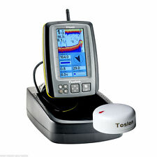 Toslon TF650 Colour Fish Finder + GPS, Compass + 3D Reef Master Pro Interface