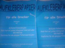 .100  Bogen A4 Premium Klebepapier selbstklebend - Restposten  Neuware !!